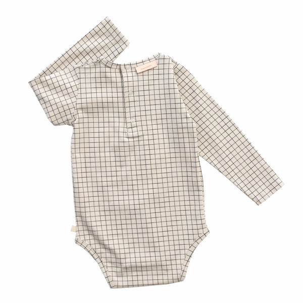 Tiny Cottons Medium Grid Onesie