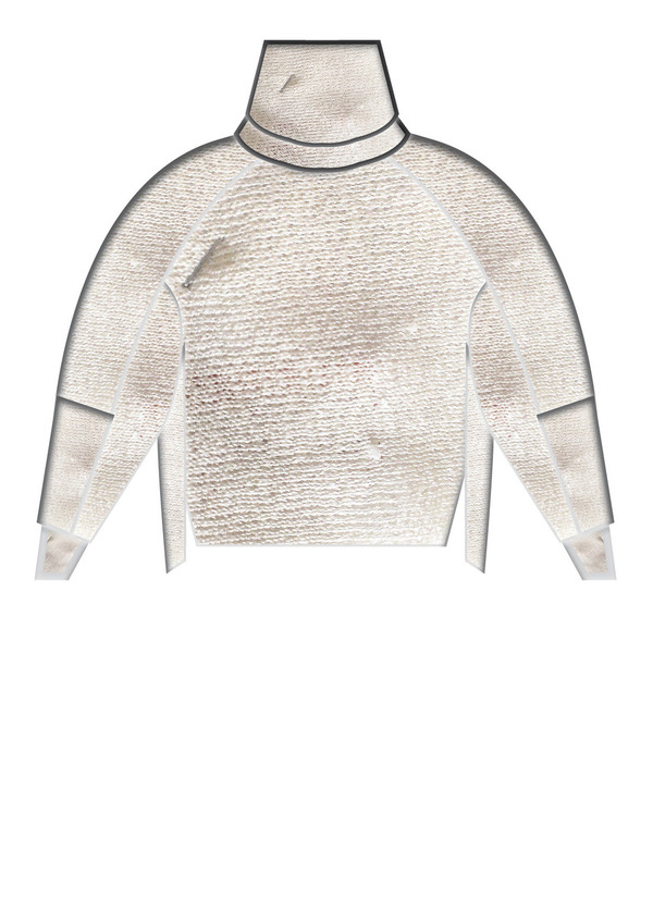 Berenik Turtleneck Knit Ivory