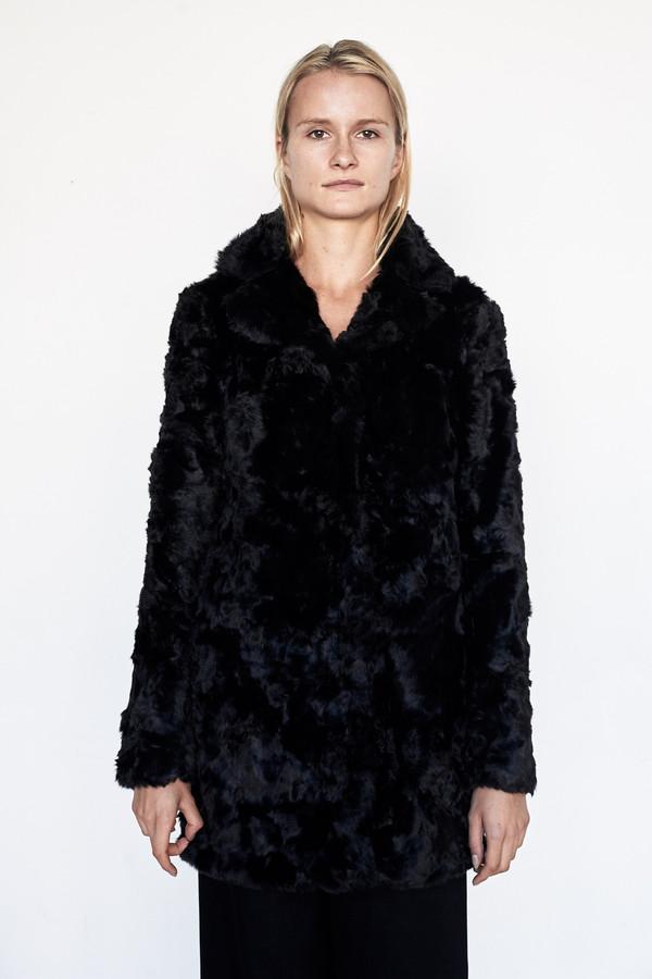 Goosecraft Faux Fur Coat - Black