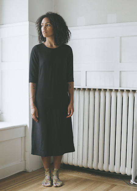 Sunja Link Black Sheath Dress