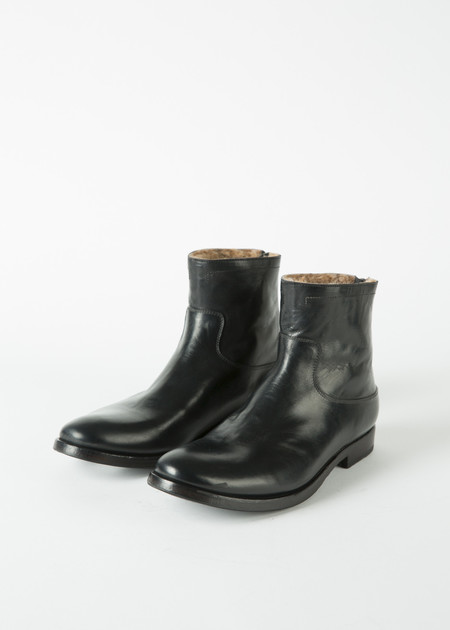 Pete Sorensen Shearling Western Zip Boot