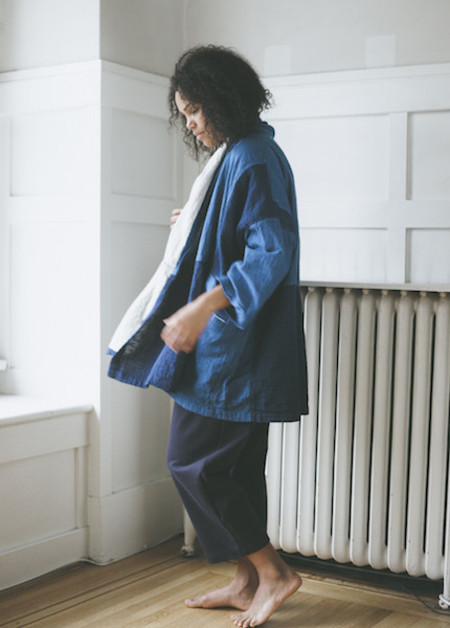 Atelier Delphine Haori Coat - Patchwork Indigo