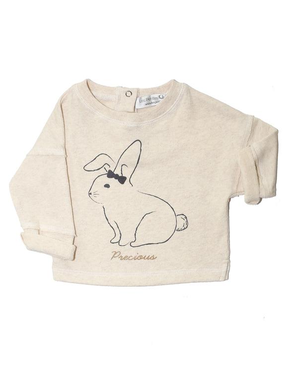 Les Petites Choses Ecru Louisa Bunny Sweatshirt - Coucou Boston