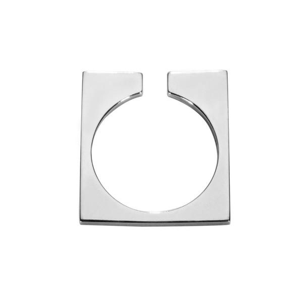 AGMES Thin Open Block Ring