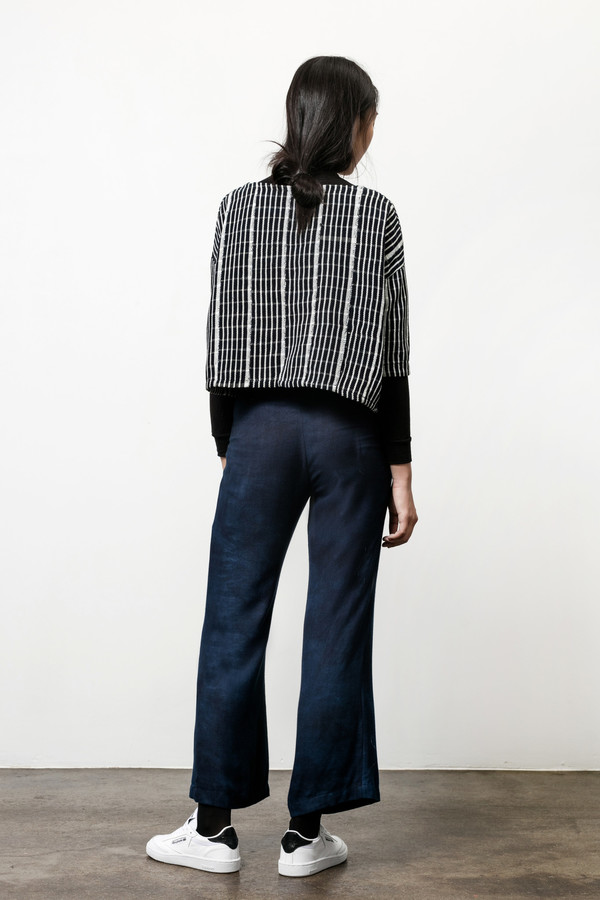 Osei-Duro Box Top in Handwoven Grid