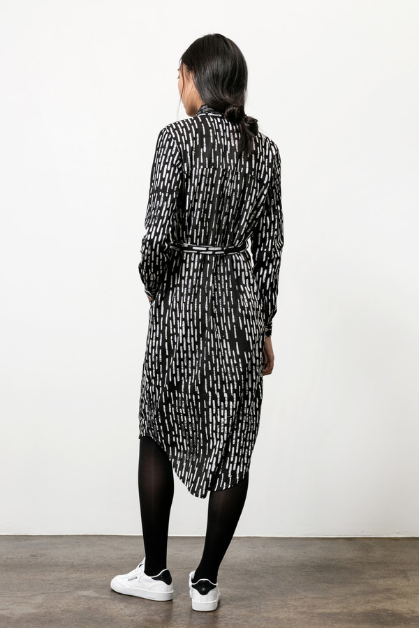 Osei-Duro Causa Dress in B&W Broken Lines