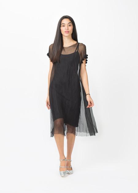 Louiza Babouryan Pom Pom Dress with Slip