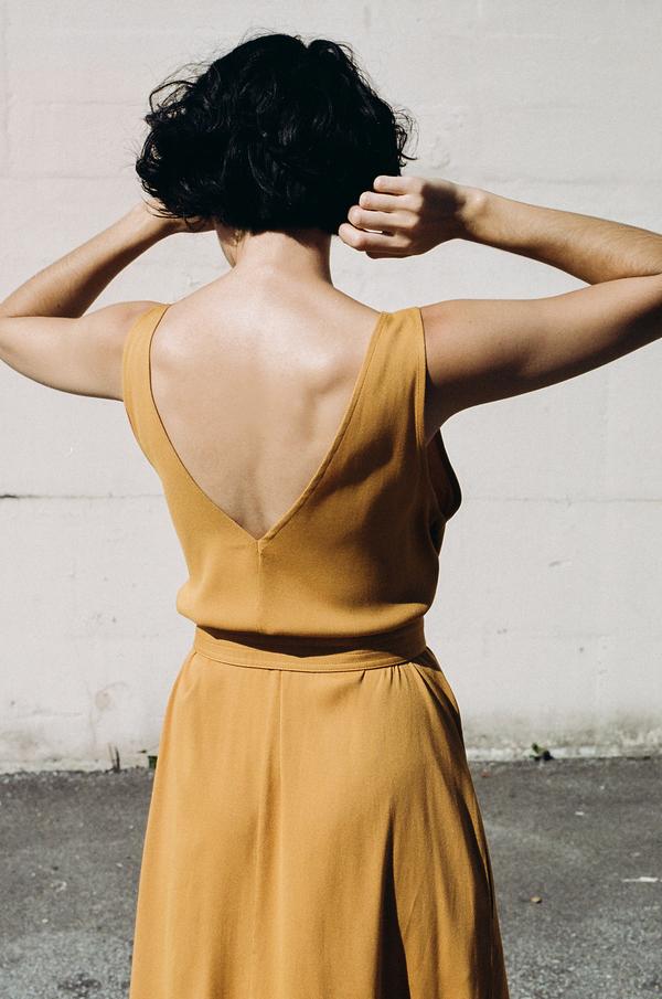Jesse Kamm Palma Dress - gold
