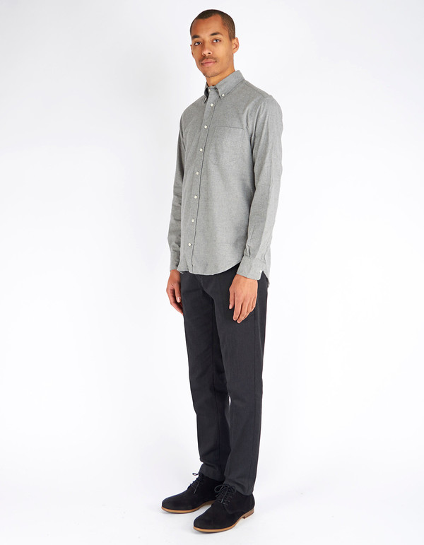 Gitman Vintage Button Down Grey Flannel
