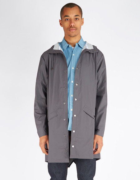 Men's Rains Long Jacket Men's Smoke