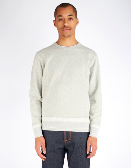 Men's Shuttle notes Furrow Crew Sweater Grey