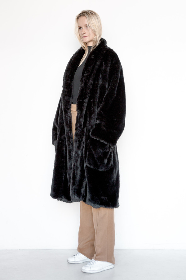 Assembly New York Faux Fur Full Robe Coat