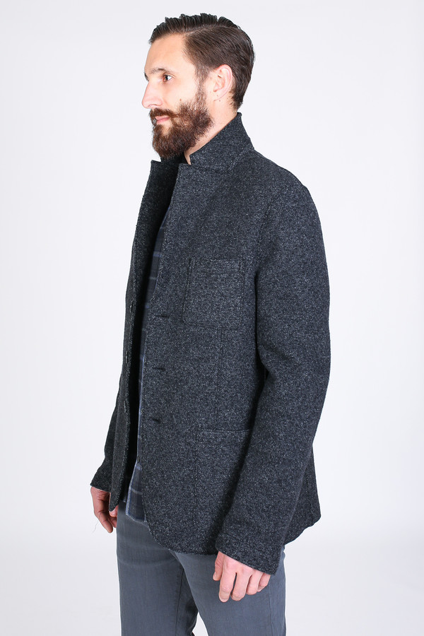Men's Harris Wharf London Three Button Jacket in Anthracite