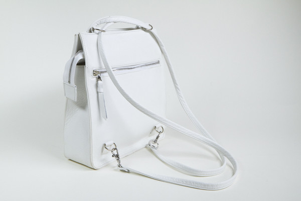 Clyde Best Bag in White Leather