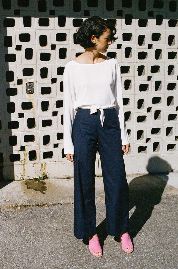 Objects Without Meaning Wide Leg Pant - navy