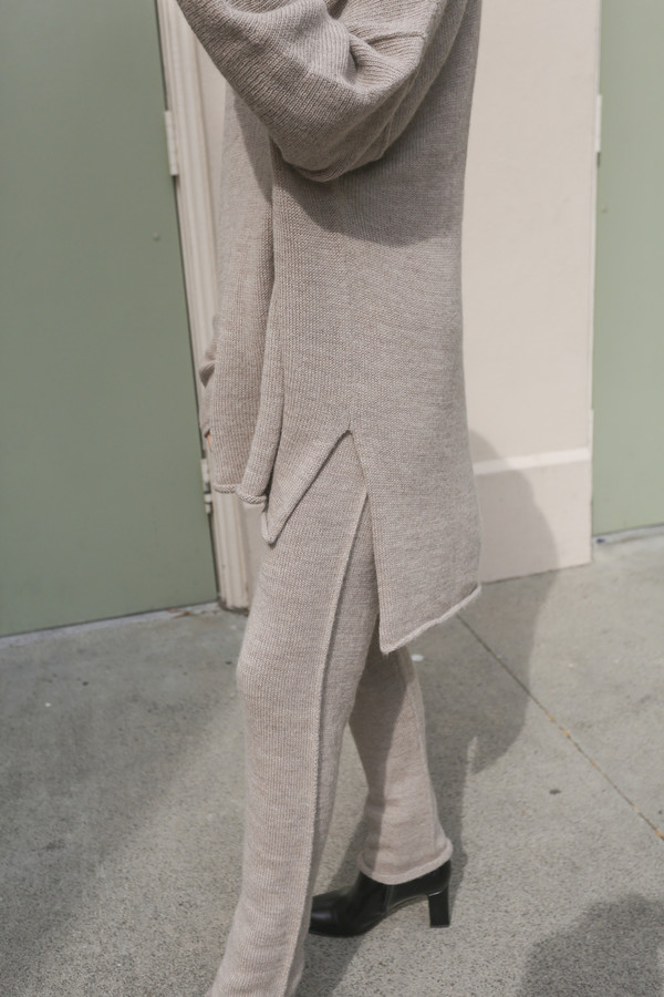 Lauren Manoogian Oversized Roll Neck Sweater in Oatmeal
