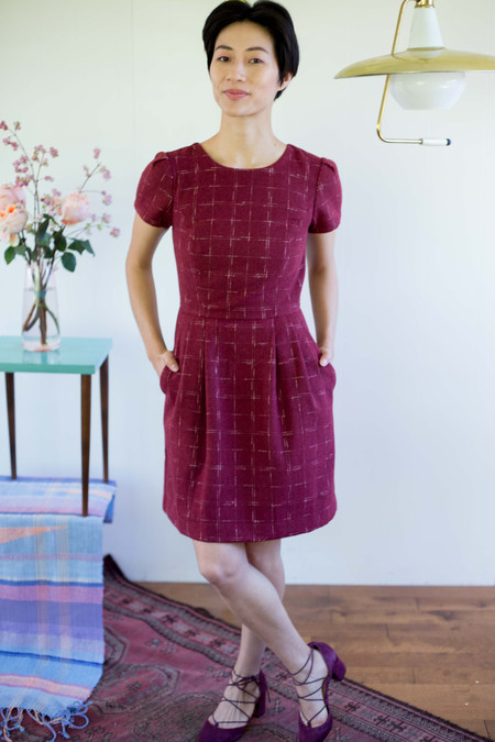 Birds of North America Drongo Dress (Cranberry)
