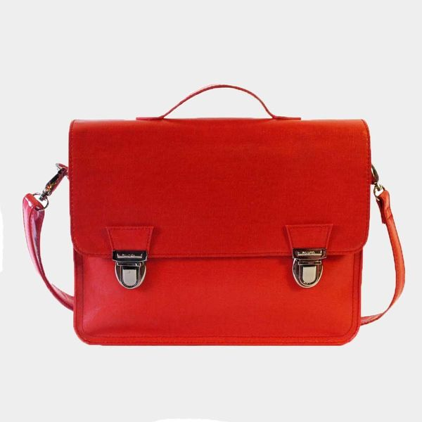 Miniseri Medium Glossy Red School Bag - Dodo Les Bobos