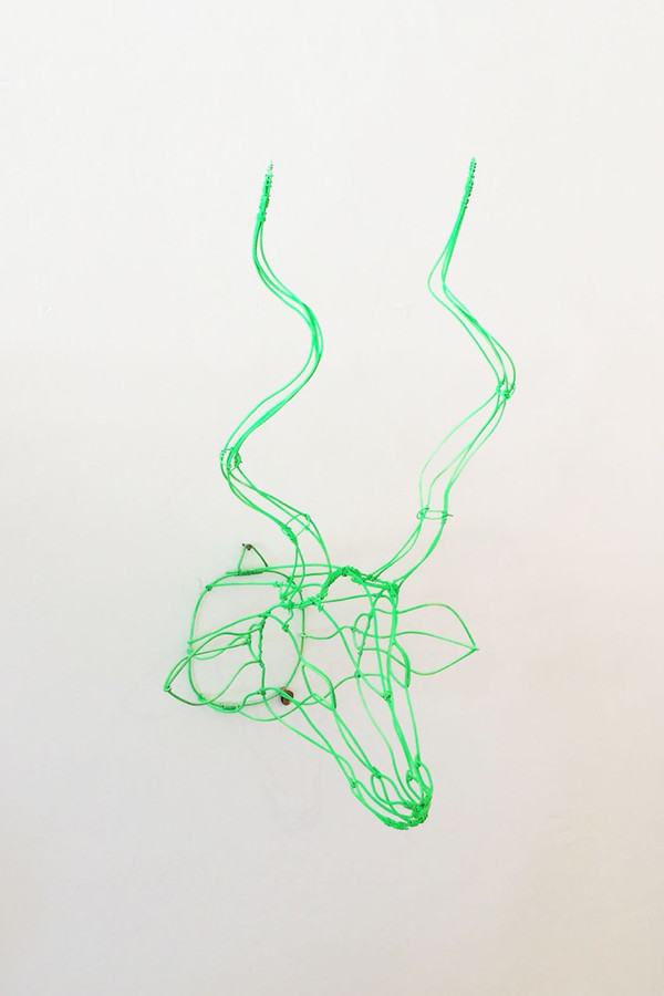 7 on Locust Wire Nyala Head - Green