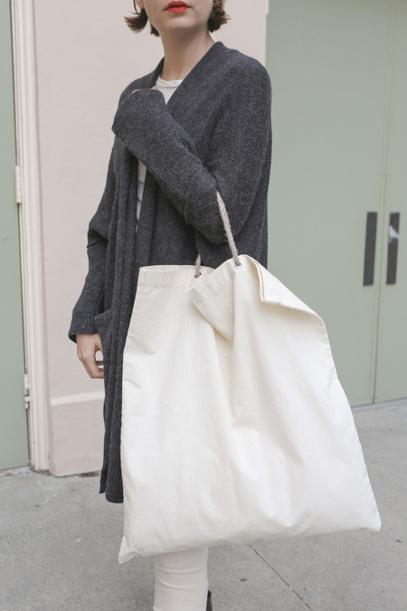 A Détacher Canvas Tote with Rope Handles