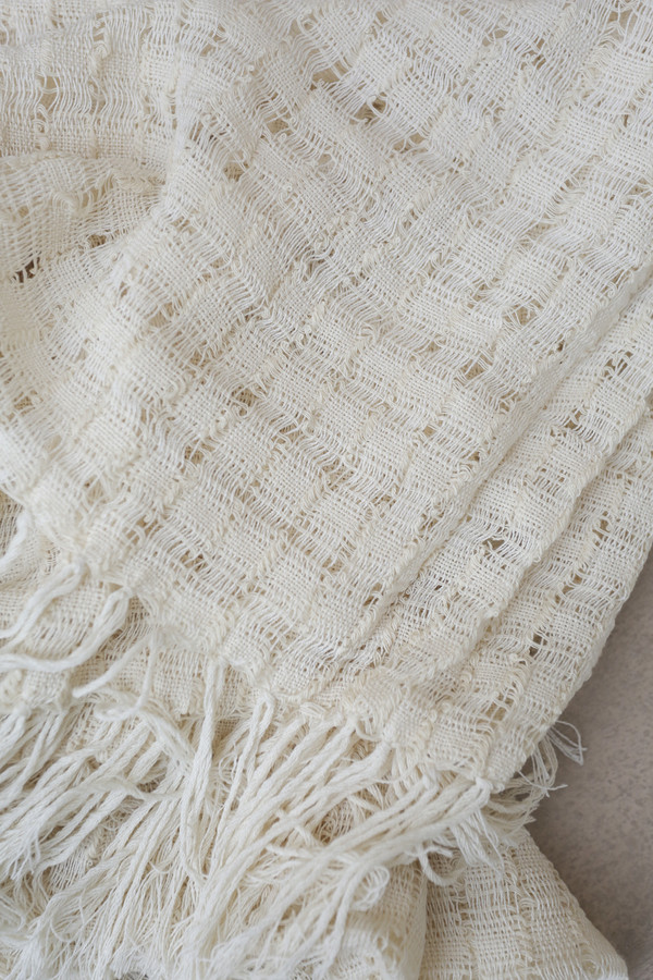Mexchic Wabi-Sabi Blanket in Cream