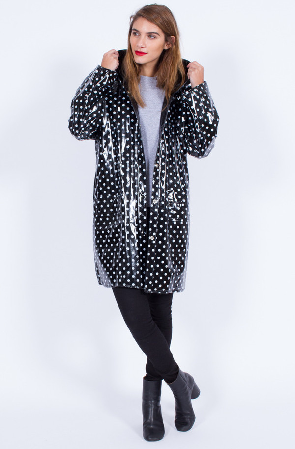 Yo Vintage! POLKA DOT RAINCOAT (ONE SIZE)