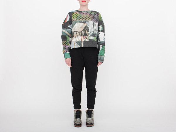 Berenik Printed Crop Sweatshirt