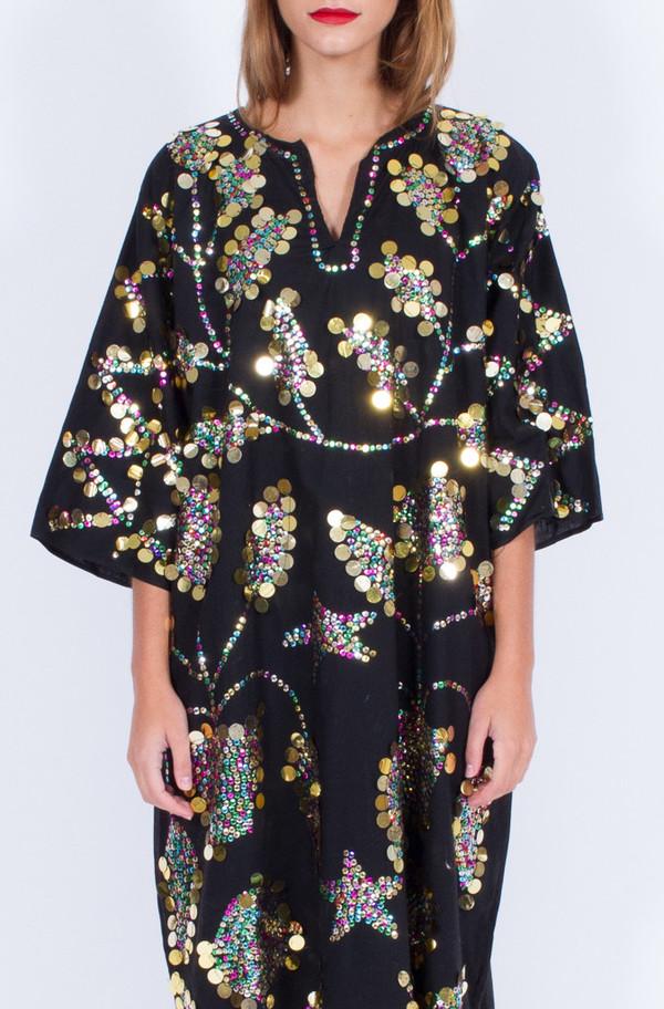 SEQUIN BLACK DRESS (ONE SIZE)