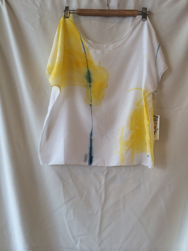 Dear Pony Hand Painted silk/cotton tee