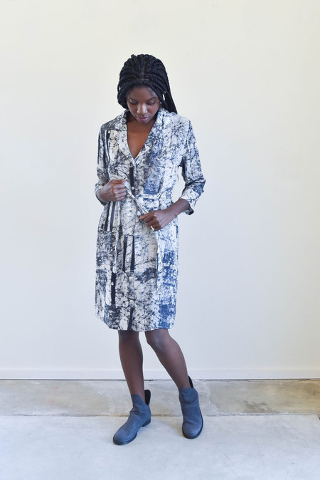 Osei-Duro Osei Duro Corium Dress in Broken Barcode