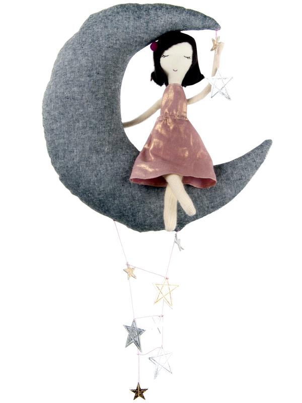 Baby Jives Moon & Ragdoll Mobile - Norman & Jules