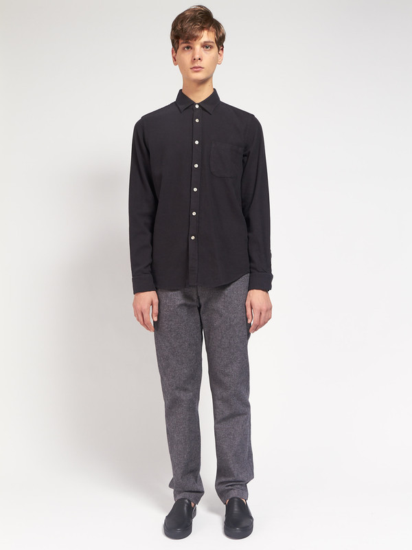 Men's Portuguese Flannel Teca Shirt Black