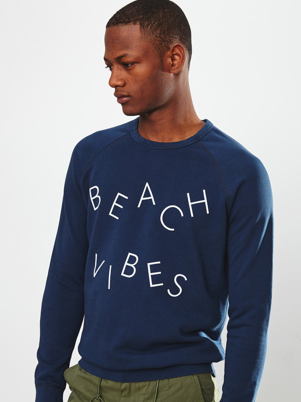 Men's Quality Peoples Beach Vibes Crewneck