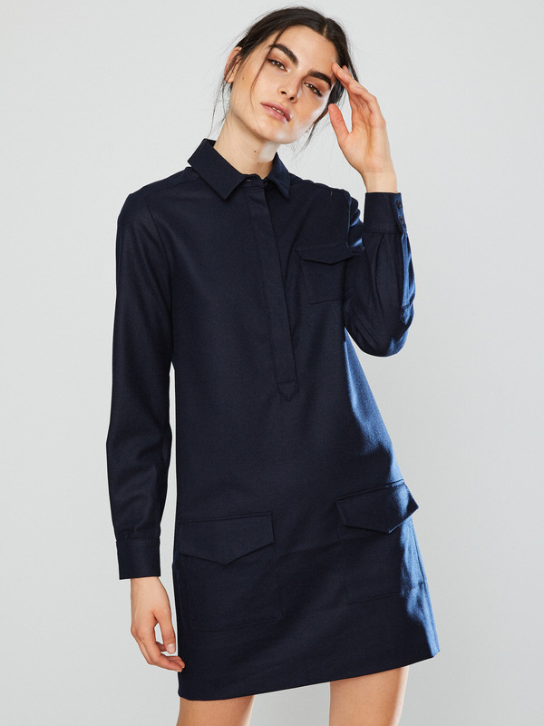 YMC Wool Shirt Dress