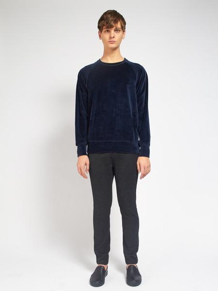 La Paz Cunha Velour Sweatshirt Blue