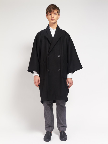 Men's Henrik Vibskov Last Coat Black