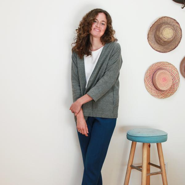 Me & Arrow Cardi Jacket - Fuzzy Heather Grey