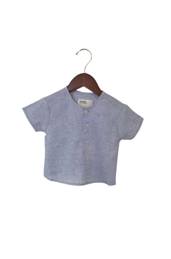Kid's Boy+Girl Nico Kurta - Blue Hatch