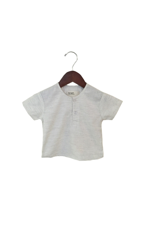 Kid's Boy+Girl Nico Kurta - Heather Natural