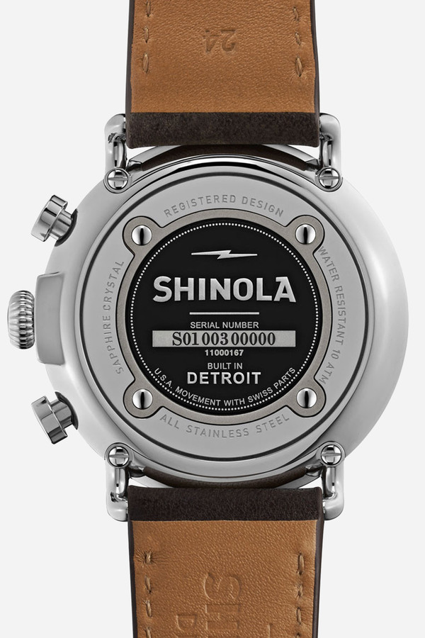 Shinola The Runwell chrono 41mm in blue & brown