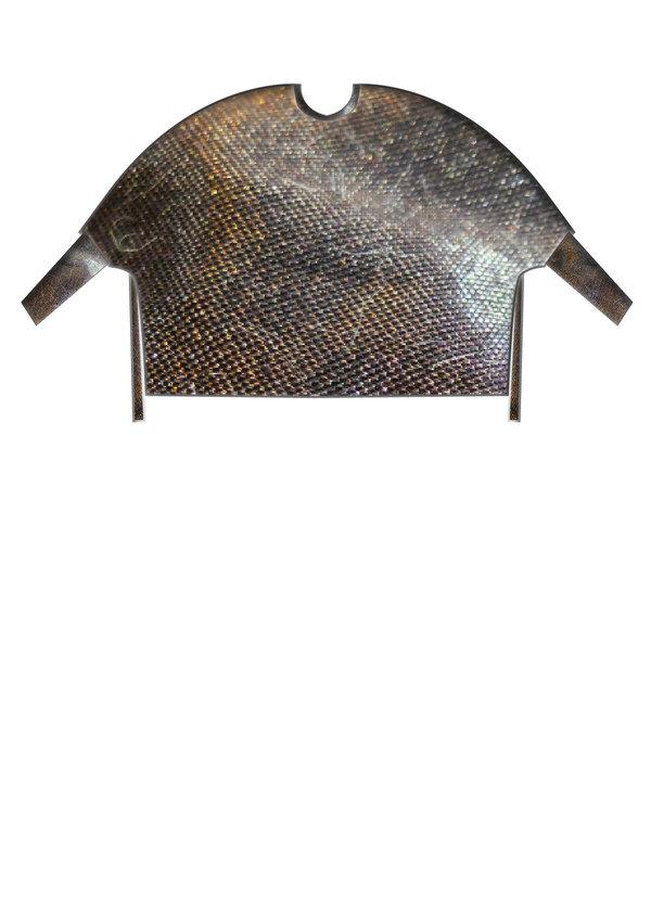 Berenik Oversize Shirt - Black With Golden Shine