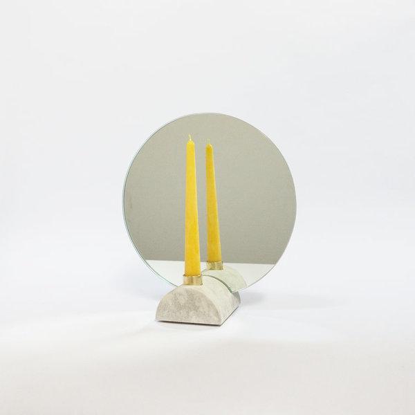Steven Bukowski  Oculus Mirror + Candle Holder