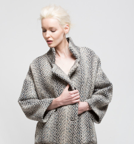 H. Fredriksson Kate Jacket Grey Color Tweed Wool