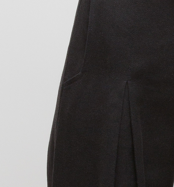 H. Fredriksson Pleat Long Pant Black