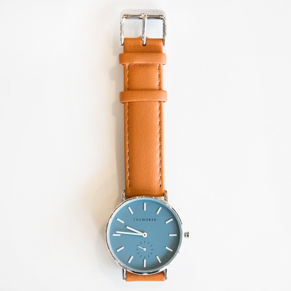 The Horse B3 Classic Polished Steel Tan Band SOLD OUT