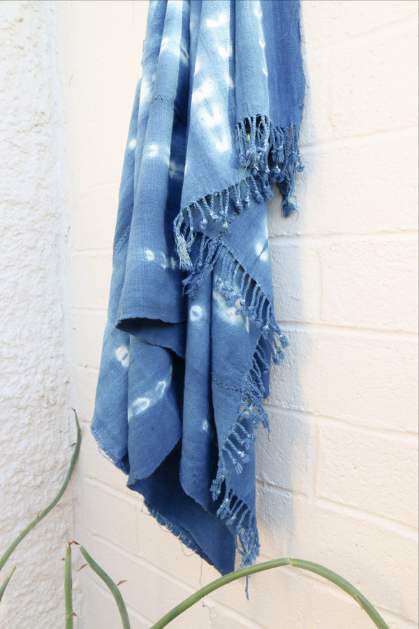 Indigo Shibori Throw
