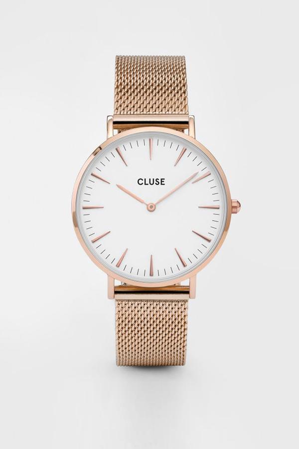 CLUSE WATCH La Boheme Mesh Rose Gold/White