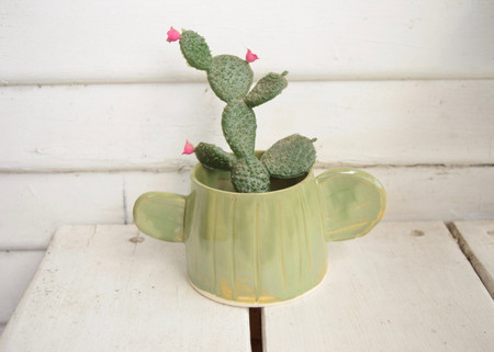 Red Planet Pottery Cactus Mug