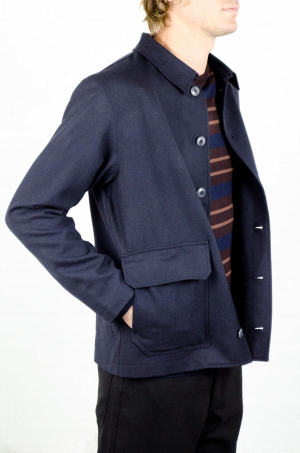 Men's Odin Navy Wool NK Jacket