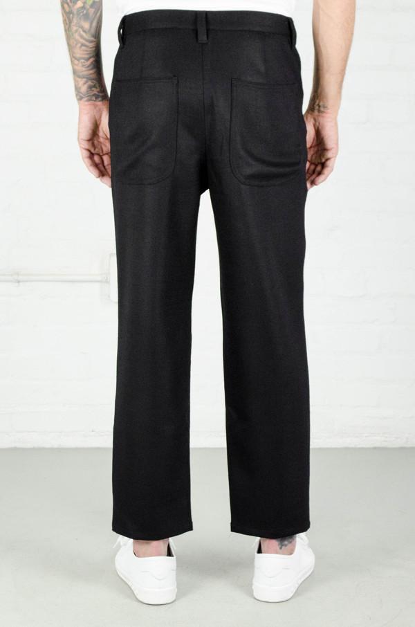 Men's Odin Slouchy Wool Crepe Trouser